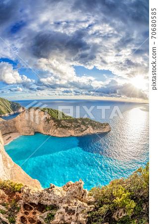 Navagio beach with shipwreck on Zakynthos island, Greece 70680585
