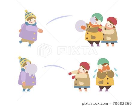 孩子們在雪地裡打架2框架集 70682869