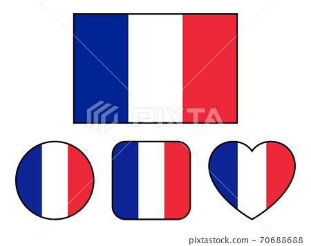 法國國旗的變體套(帶邊框) 70688688