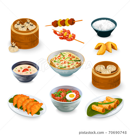 Asian Food Set 70690748