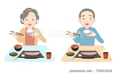밥을 먹을 수석 (선 없음) 70691604