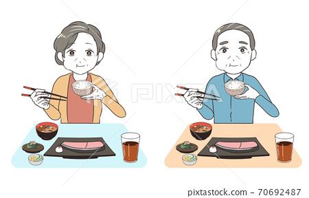 高級咀嚼米飯 70692487