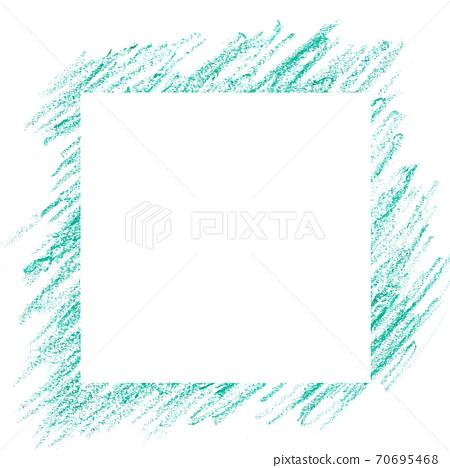 綠色蠟筆劃背景 70695468