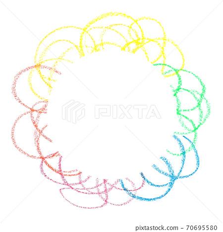 用彩色蠟筆纏繞顏色 70695580