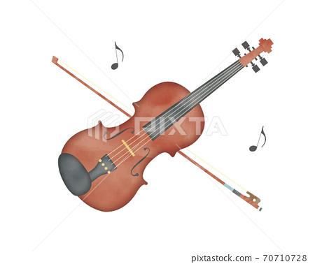 易水彩彩色小提琴 70710728