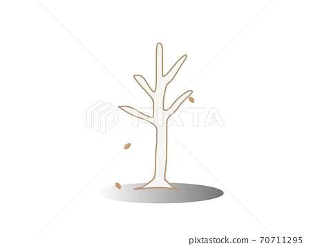 Illustration of a simple dead tree 70711295