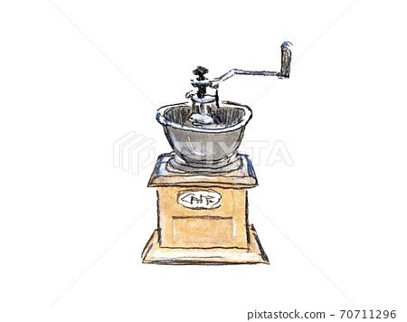 손으로 그린 커피 분쇄기 일러스트 70711296