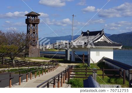 사가현 가라 쓰시의 당진 성 풍경 70712755