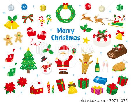 聖誕節矢量插圖集正常 70714075