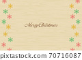 Annual event Christmas snowflake wood grain background 70716087