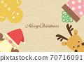 Annual event Christmas Santa Claus wood grain background 70716091