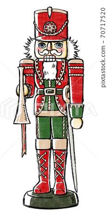 Kurumi小號公仔,聖誕節彩色版,印刷風格 70717520