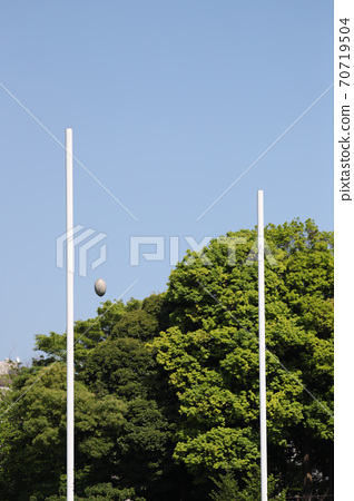 Rugby goal 70719504