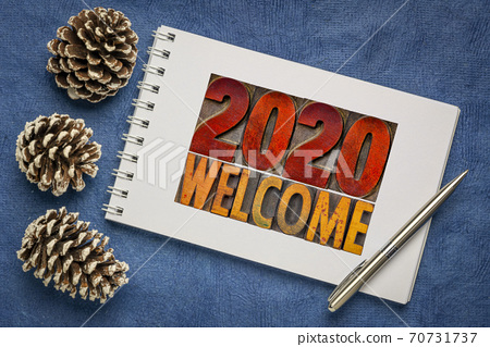 2020 welcome - New Year greeting card 70731737