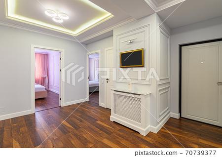 Spacious luxury hallway interior 70739377