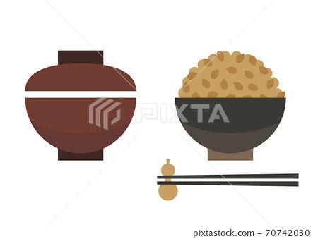 糙米和味mis湯的插圖 70742030