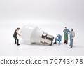 Business creative idea, power or energy generator concept, miniature people 70743478