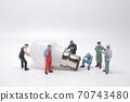 Business creative idea, power or energy generator concept, miniature people 70743480