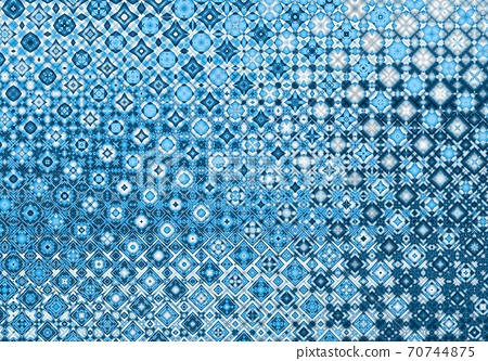 Blue abstract geometric winter christmas background illustration 70744875