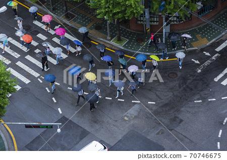 Rainy season city landscape 013 70746675