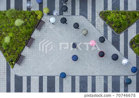 Rainy season city landscape 015 70746678