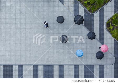 Rainy season city landscape 020 70746683