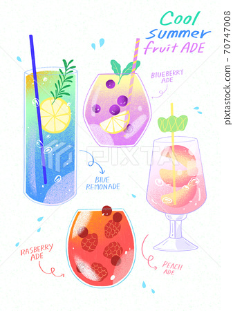 Summer desserts for the menu hand drawn illustration 009 70747008