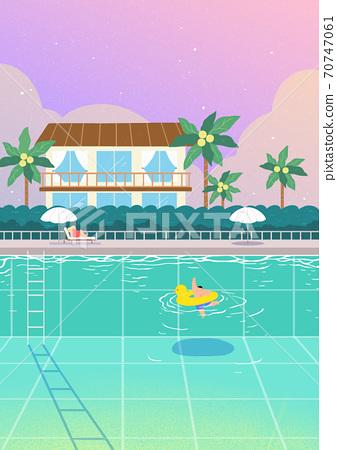 Beautiful summer landscape background illustration 004 70747061
