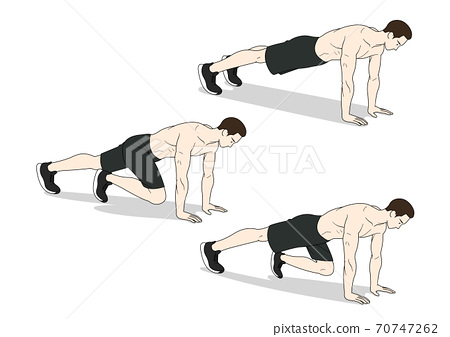 Fitness sports, exercising at home illustration 003 70747262