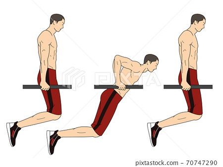 Fitness sports, exercising at home illustration 008 70747290
