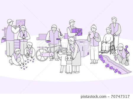 Group of different people in community illustration 009 70747317