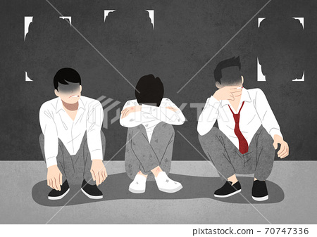 Juvenile delinquency concept, Problem of teenagers illustration 008 70747336