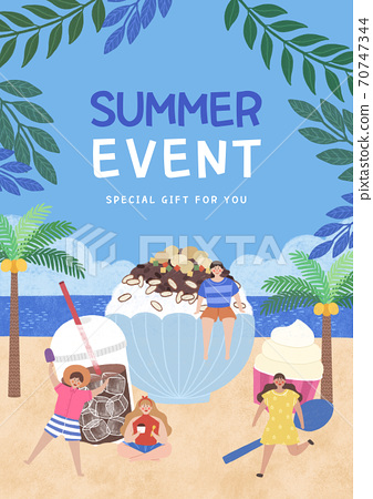 Summer festival and event poster design illustration 008 70747344