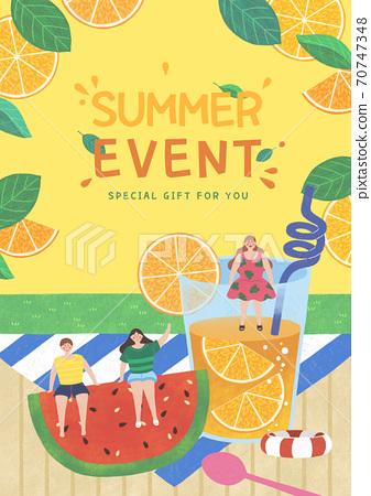 Summer festival and event poster design illustration 002 70747348