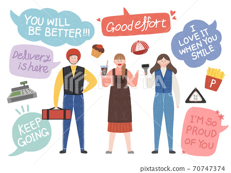Cheers for everyone concept. thank you and hopeful message with people illustration 005 70747374