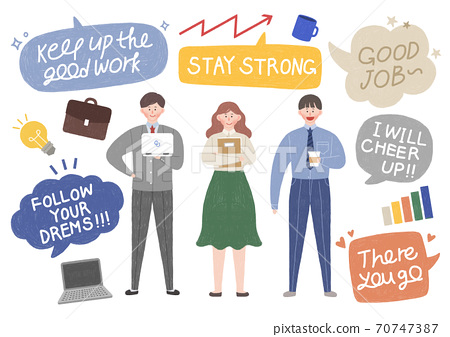 Cheers for everyone concept. thank you and hopeful message with people illustration 008 70747387
