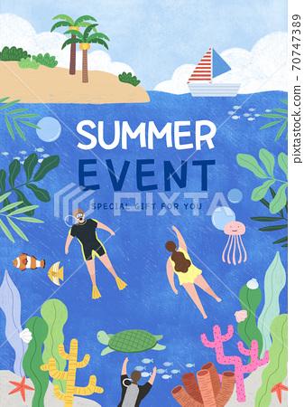 Summer festival and event poster design illustration 006 70747389