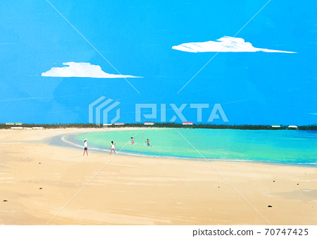 Beautiful summer landscape background illustration001 70747425