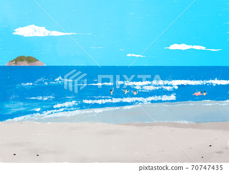 Beautiful summer landscape background illustration005 70747435