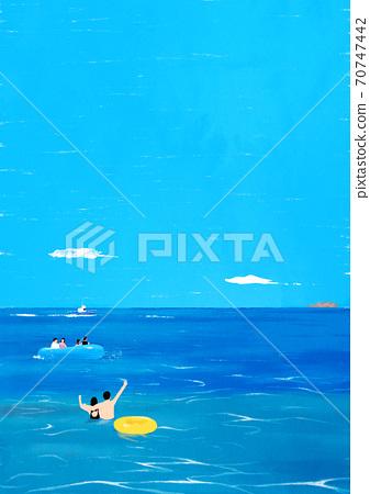 Beautiful summer landscape background illustration007 70747442