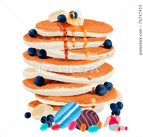 Sweets and fast food hand drawn illustration 006 70747455