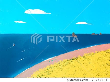 Beautiful summer landscape background illustration009 70747521