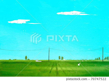Beautiful summer landscape background illustration008 70747522