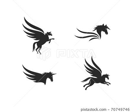 Pegasus Logo Template 70749746