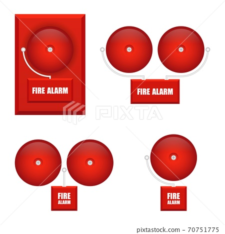 Set of fire alarms vector illustration isolated on white background 70751775