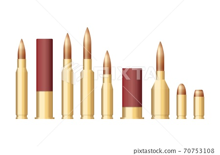 Set of bullets of different sizes vector illustration 70753108
