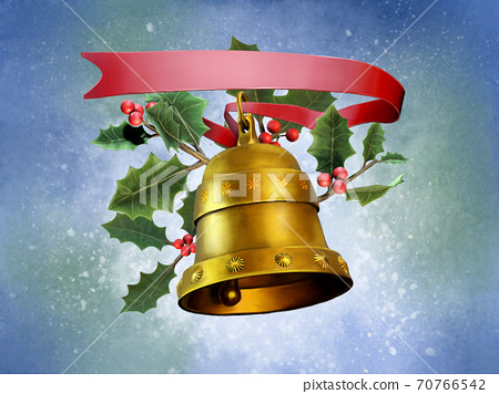 Christmas composition with a bell 70766542