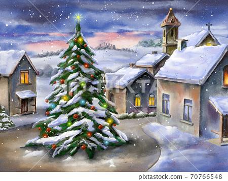 Christmas landscape 70766548