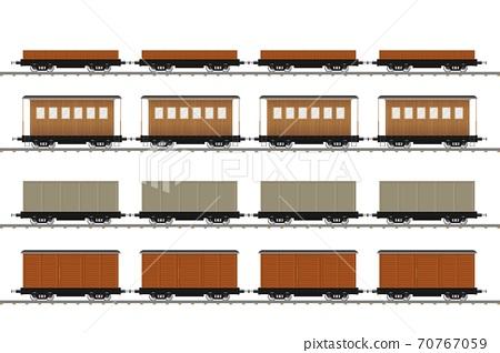 Set of train wagons vector illustration isolated on white background 70767059