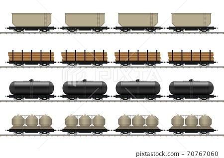 Set of train wagons vector illustration isolated on white background 70767060